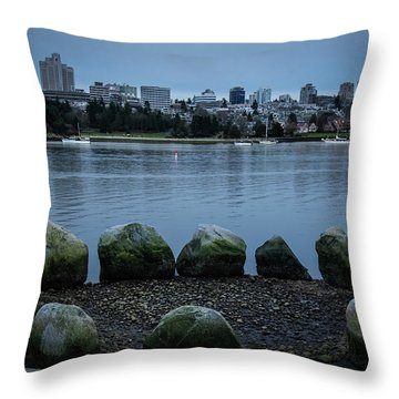 Throw Pillow featuring the photograph High And Low Tide by Juan Contreras