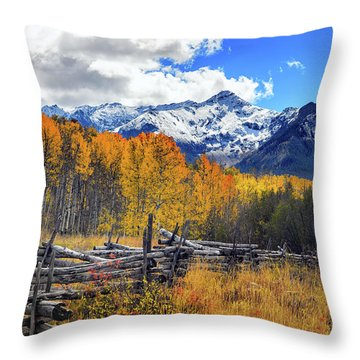 Throw Pillow featuring the photograph High County Ablaze by Rick Furmanek