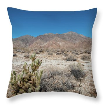 High Desert Cactus Throw Pillow