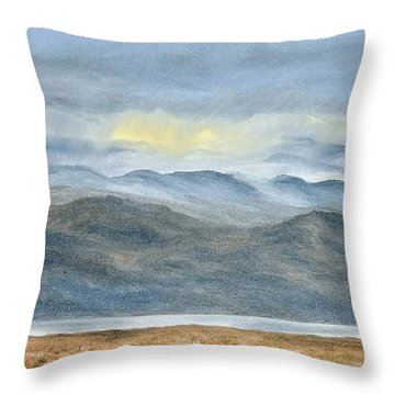 Throw Pillow featuring the painting High Desert Morning by Kevin Daly