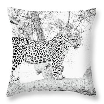 High Key Leopard Throw Pillow