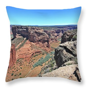 High Noon At Spider Rock Throw Pillow