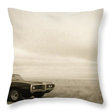 Throw Pillow featuring the photograph High Plains Drifter by Carl Young