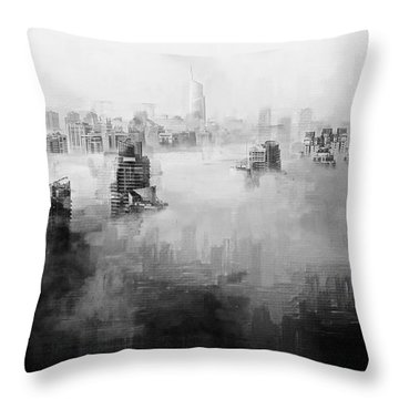 Throw Pillow featuring the digital art High Society by ISAW Company