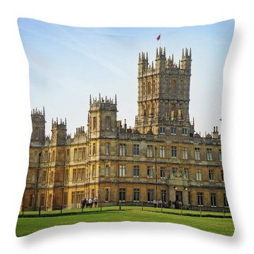 Throw Pillow featuring the photograph Highclere Castle by Joe Winkler