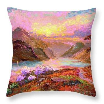 Highland Lake Throw Pillow