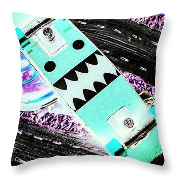 Highway Monster Decks Throw Pillow