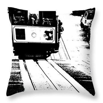 Hill Street Noir Throw Pillow