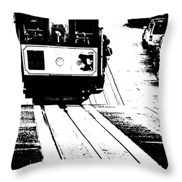 Hill Street Noir Throw Pillow