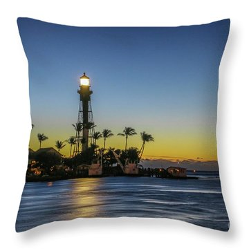 Throw Pillow featuring the photograph Hillsboro Light Reflection by Tom Claud