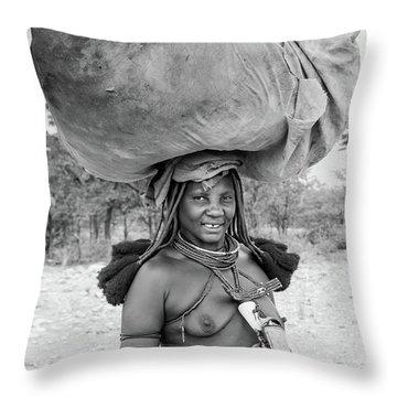 Himba Woman 2 Throw Pillow