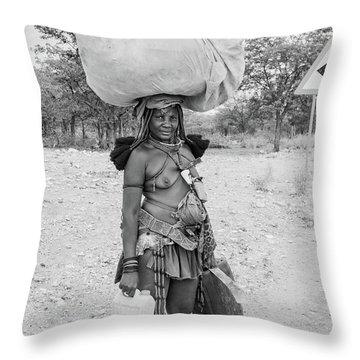 Himba Woman 3 Throw Pillow