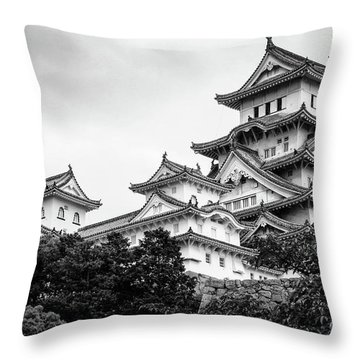 Himeji Castle, Japan Throw Pillow