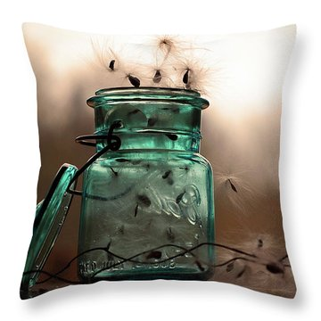 Throw Pillow featuring the photograph His Cup Runneth Over by Michelle Wermuth
