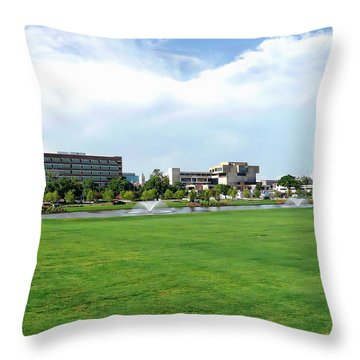 Throw Pillow featuring the photograph Historic Downtown Pensacola  by Anthony Dezenzio