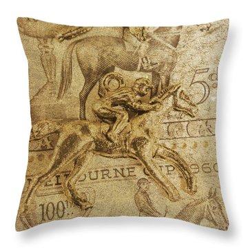 Historic Horse Racing Throw Pillow