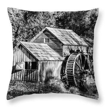 Historic Mabry Mill Throw Pillow