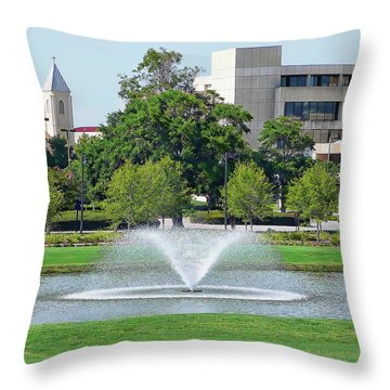 Throw Pillow featuring the photograph Historic Pensacola by Anthony Dezenzio