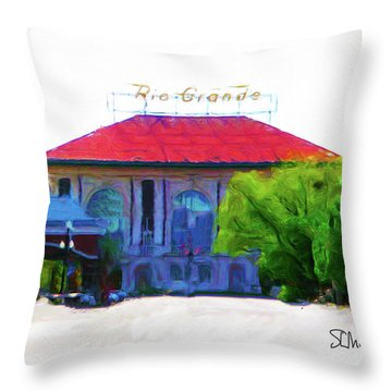 Historic Rio Grande Station Throw Pillow