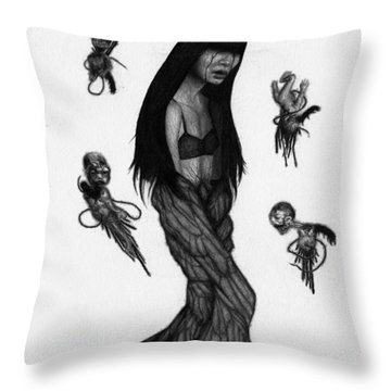 Hitome Miyamoto - Artwork Throw Pillow