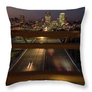 Throw Pillow featuring the photograph Hoan View by Randy Scherkenbach