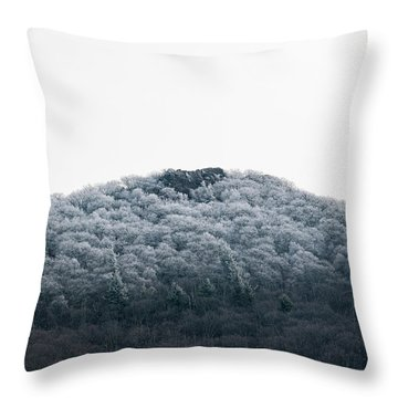 Hoarfrost On The Mountain Throw Pillow