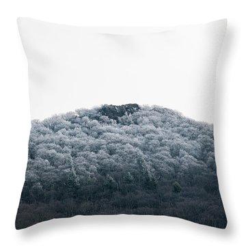 Hoarfrost On The Mountain Throw Pillow