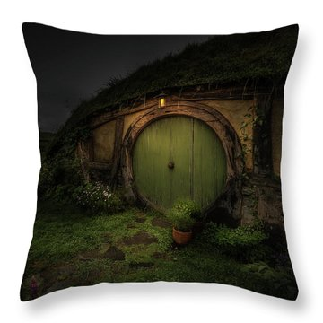 Hobbiton At Night #1 Throw Pillow