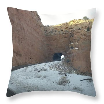 Hole In The Rock Throw Pillow