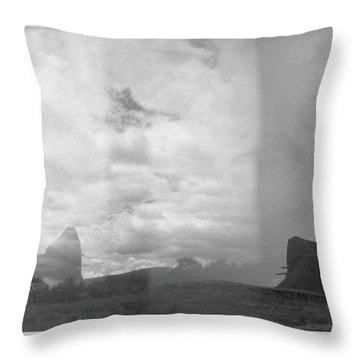 Holga Triptych 4 Throw Pillow