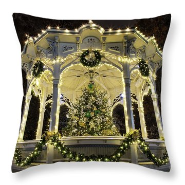 Holiday Lights - Gazebo Throw Pillow