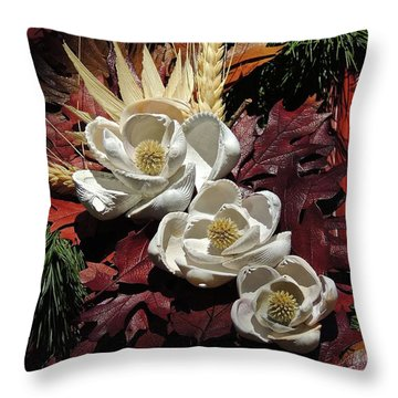 Holiday Shells Throw Pillow
