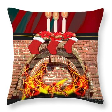 Holiday Warmth Throw Pillow