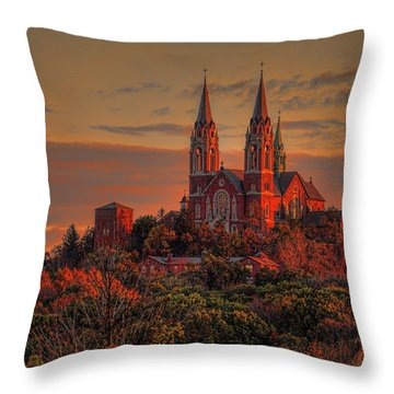 Holy Hill Sunrise Throw Pillow