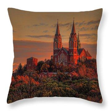 Holy Hill Sunrise Throw Pillow