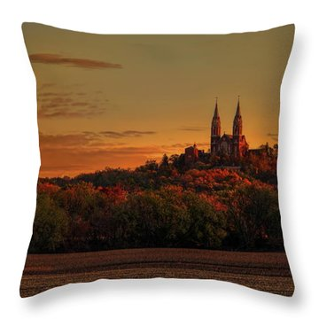 Holy Hill Sunrise Panorama Throw Pillow