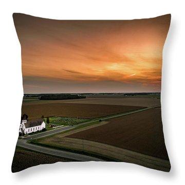Holy Sunset Throw Pillow