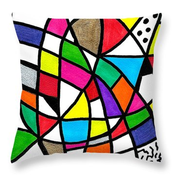 Homage To The Muses 3 Throw Pillow