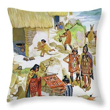 Home In Peru, Circa Ad 100 Throw Pillow