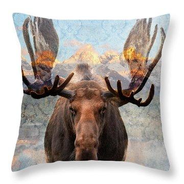 Hometown Moose Throw Pillow