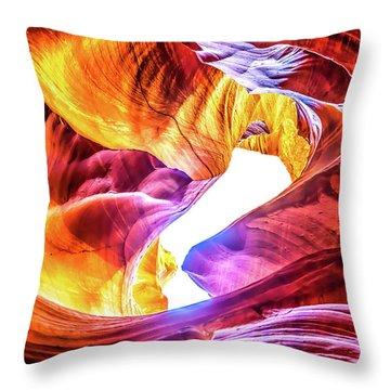 Honeycomb Swirls Throw Pillow