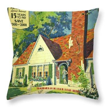 Honor Bilt Modern Homes Sears Roebuck And Co 1930 Throw Pillow