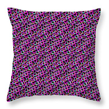 Throw Pillow featuring the digital art Hoops And Loops by Bee-Bee Deigner