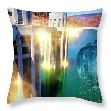 Hoover Intake Facility Throw Pillow