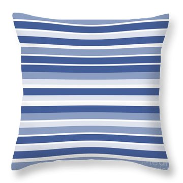 Horizontal Lines Background - Dde607 Throw Pillow