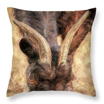 Horns Authority Throw Pillow