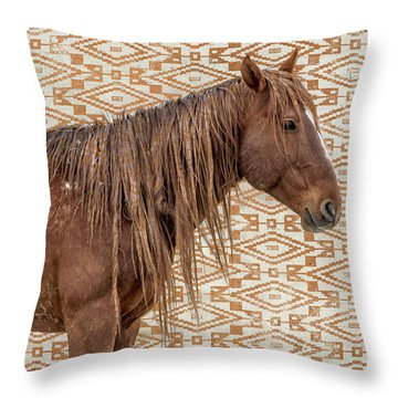 Horse Blanket Throw Pillow