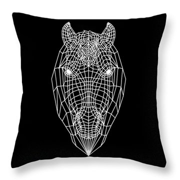 Horse Mesh Throw Pillow