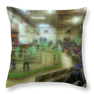 Horse Sale Throw Pillow