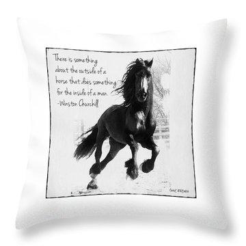 Horse's Profound Spirit  Throw Pillow